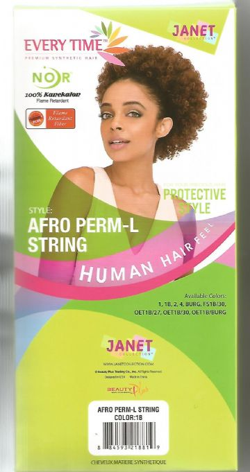 AFRO PERM-L STRING JANET COLLECTION EVERYTIME NOIR DRAWSTRING